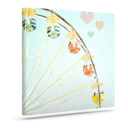 """Kess InHouse - Bree Madden """"Fair Love"""" Wrapped Art Canvas (12"""" x 10"""") - Bring your outdoor patio to life with this artistic outdoor canvas wrap featuring gorgeous artwork by KESS InHouse. These canvases are not only easy to hang and remove but also are the perfect addition to your patio collection. These canvases are stretched around a wooden frame and are built to withstand the elements and still look artistically fabulous. Decorating your patio and walls with these prints will add the splash of art and color that is needed to bring your patio collection together! With so many size options and artwork to choose from, there is no way to go wrong with these KESS Canvas Wraps!"""