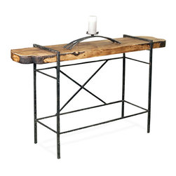 Studio Collection Console Table by Stone County Ironworks - Dimensions: (length x width x height)