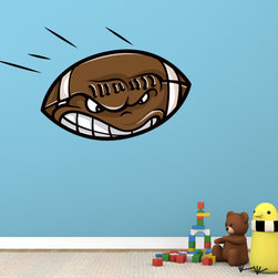 Football Vinyl Wall Decal - Vinyl Wall Decals are an awesome way to bring a room to life!