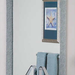 None - Dune Frameless Wall Mirror - A frameless style and two sides of etched design highlight this wall mirror. This mirror hangs vertically and will complement any decor.