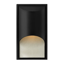 Hinkley - Hinkley Cascade One Light Satin Black Outdoor Wall Light - 1830SK - This One Light Outdoor Wall Light is part of the Cascade Collection and has a Satin Black Finish. It is ADA Compliant, Outdoor Capable, and Wet Rated.