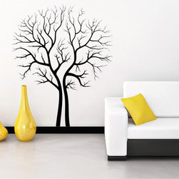 StickONmania - Empty Trees Contour Sticker - A cool vinyl decal wall art decoration for your home  Decorate your home with original vinyl decals made to order in our shop located in the USA. We only use the best equipment and materials to guarantee the everlasting quality of each vinyl sticker. Our original wall art design stickers are easy to apply on most flat surfaces, including slightly textured walls, windows, mirrors, or any smooth surface. Some wall decals may come in multiple pieces due to the size of the design, different sizes of most of our vinyl stickers are available, please message us for a quote. Interior wall decor stickers come with a MATTE finish that is easier to remove from painted surfaces but Exterior stickers for cars,  bathrooms and refrigerators come with a stickier GLOSSY finish that can also be used for exterior purposes. We DO NOT recommend using glossy finish stickers on walls. All of our Vinyl wall decals are removable but not re-positionable, simply peel and stick, no glue or chemicals needed. Our decals always come with instructions and if you order from Houzz we will always add a small thank you gift.