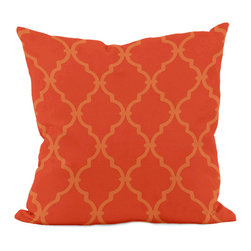 E by Design - Trellis Decorative Pillow, Pumpkin - Add a pop of color and texture to your couch or bedspread with this fashion-forward pillow. �� Woven polyester Spot clean Made in the USA