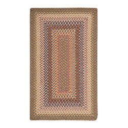 """Nourison - Nourison Craftwork KRA01 2'3"""" x 3'9"""" Autumn Area Rug 12636 - In burnished hues of rose, brown, beige and coral, this casually chic braided rug conjures up images of a cozy cabin in the woods for a vacation-like vibe that lasts year round. Expertly crafted to last for years - even in halls and foyers."""