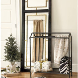 Lowell Blanket Rack - You're going to have a hard time figuring out where to use this great blanket rack because it works so well in so many places.  Put in the bedroom for overflow blankets, by the pool for wet towels or in a bathroom for towels there, too.
