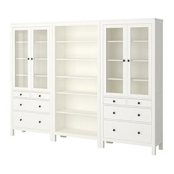 HEMNES Storage Combination - For those who are unsure of what to do with blank walls, try filling them up with bookshelves. It is an excellent way to keep a children's room organized and tidy while giving off a built-in look. These shelves also provide drawer storage, a perfect alternative for storing loose toys or extra clothing.