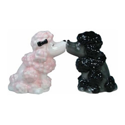 WL - 2.75 Inch Pink and Black Poodles Kissing Salt and Pepper Shakers - This gorgeous 2.75 Inch Pink and Black Poodles Kissing Salt and Pepper Shakers has the finest details and highest quality you will find anywhere! 2.75 Inch Pink and Black Poodles Kissing Salt and Pepper Shakers is truly remarkable.