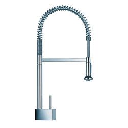 Hansgrohe Pull Out Spray Kitchen Faucet - Hansgrohe-10820001 Axor Starck Semi-Pro Kitchen Faucet in Chrome