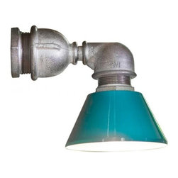 ParrotUncle - Reclaimed Industrial Pipe Wall Lights - With an extremely solid industrial pipe and a beautiful shade, this reclaimed industrial pipe wall light is a unique conversation piece to greet you and your guests. With the cool and delicate appearance, it fits well with any decor and would look terrific in a restaurant, bar/pub, cafe, man cave or anywhere you need a high class, industrial style light.
