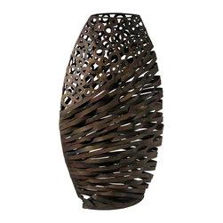 Cyan Design - Cyan Design Alicia Wire Vase Sculpture in Byzantine Oxide - Alicia Wire Vase Sculpture in Byzantine Oxide