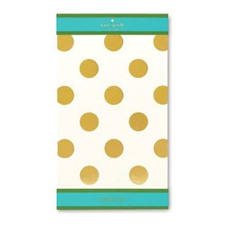 Kate Spade - kate spade Notepad - Gold Dot/Small - Manage your to do lists and your daily chores with our chic gold dots small notepad by kate spade new york.