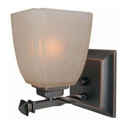 Illumine - Illumine Designer Collection 1-Light 5 in. Bronze Wall Sconce with Amber Glass S - Shop for Lighting & Fans at The Home Depot. This 1-light wall sconce, part of the Designer Collection, offers a trendy solution that is sure to satisfy all your-lighting needs. This wall sconce combines unique styling and excellent quality to create the perfect blend that will exceed your expectations. Combining a bronze finish with amber glass shade, this functional yet stylish fixture will add a renewing element in various decor settings.