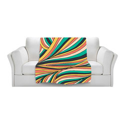 DiaNoche Designs - Fleece Throw Blanket by Pom Graphic Design - Retro Movement - Original Artwork printed to an ultra soft fleece Blanket for a unique look and feel of your living room couch or bedroom space.  DiaNoche Designs uses images from artists all over the world to create Illuminated art, Canvas Art, Sheets, Pillows, Duvets, Blankets and many other items that you can print to.  Every purchase supports an artist!