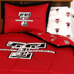 College Covers - NCAA Texas Tech Red Raiders King Bed Set Cotton Bedding - FEATURES: