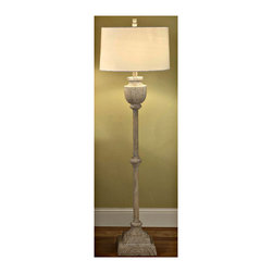 Crestview Collection - Crestview Collection CVAUP524 Avalon Carved Wood Floor Lamp - Crestview Collection CVAUP524 Avalon Carved Wood Floor Lamp