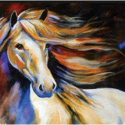 WL - Wind Theme Wall Art Painting with White Horse Flowing Mane Design - This gorgeous Wind Theme Wall Art Painting with White Horse Flowing Mane Design has the finest details and highest quality you will find anywhere! Wind Theme Wall Art Painting with White Horse Flowing Mane Design is truly remarkable.