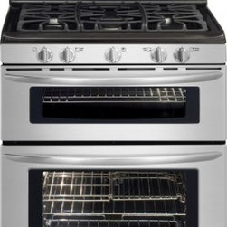 """Frigidaire - Gallery FGGF304DLF 30"""" Freestanding Double Oven Gas Range with 5 Sealed Burners - Frigidaire is the brand you have come to know and trust And for good reason Year after year Frigidaire has been the most reliable brand among leading appliance brands with the lowest number of service calls With Frigidaire you can be sure youll recei..."""