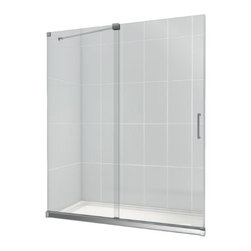 """Bathauthority Llc Dba Dreamline - Mirage 56 to 60"""" Frameless Sliding Shower Door, Clear 3/8"""" Glass Door, Chrome - The Mirage shower door delivers a unique design and the look of custom glass at an unbelievable value. Most sliding shower doors require substantial aluminum framing, but the Mirage uses innovative hardware to provide the space-saving benefits of a sliding door without compromising the beauty of a completely frameless glass design"""