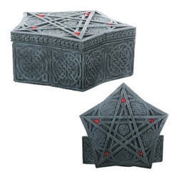 Summit - Celtic Spell Box Collectible Tribal Container Sculpture Model Statue - This gorgeous Celtic Spell Box Collectible Tribal Container Sculpture Model Statue has the finest details and highest quality you will find anywhere! Celtic Spell Box Collectible Tribal Container Sculpture Model Statue is truly remarkable.