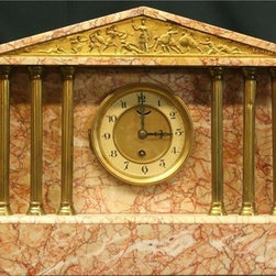 EuroLux Home - Consigned Antique Neo-Classical Mantel Clock  Greek - Product Details
