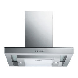 Spagna Vetro - Spagna Vetro 36, SV198N-36 Wall-Mounted Stainless Steel Glass Range Hood - Mounting version - Wall Mounted