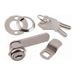 First Watch Security - Cabinet & Drawer 5/8 in. Utility Cam Lock in Stainless Steel (Set of 10) (Keyed - Choose Key Type: Keyed Alike. Keyed locking for maximum security. Requires 3/4 in. mounting hole. For wood or metal door or drawer. 2 washers for 90 or 180 degree rotation. Max drawer thickness 1/4 in.. Stainless Steel Finish