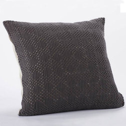 Coyuchi - diamond crochet linen pillow (charcoal) - Experience coyuchi's luxurious organic cotton bedding and towels, natural linens, wool blankets, and more. Rooted in nature, these textiles are carefully developed for comfort, aesthetics and sustainability; sourced responsibly; and created from the finest raw products. Coyuchi is the first American bedding company to offer products that meet the stringent global organic textile standard (GOTS).