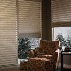 Vignette® Tiered™ Architella® Modern Roman Shades with EasyRise™ cord loop - Hunter Douglas Vignette® Collection Copyright © 2001-2012 Hunter Douglas, Inc. All rights reserved.