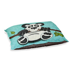 """DiaNoche Designs - Dog Pet Bed Fleece - Panda Bear I - DiaNoche Designs works with artists from around the world to bring unique, designer products to decorate all aspects of your home.  Our artistic Pet Beds will be the talk of every guest to visit your home!  BARK! BARK! BARK!  MEOW...  Meow...  Reallly means, """"Hey everybody!  Look at my cool bed!""""  Our Pet Beds are topped with a snuggly fuzzy coral fleece and a durable underside material.  Machine Wash upon arrival for maximum softness.  MADE IN THE USA."""