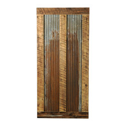Big Sky Barn Doors - Bear Paw Door, Unfinished, 38x85 - The Bear Paw door is a truly unique barn door comprised of reclaimed Montana barnwood and rustic tin. Each Big Sky Barn Door is shipped completely assembled and ready to hang.     Due to the nature of antiqued reclaimed lumber, each door is unique in character and appearance.  Colors might vary slightly as well as wood grains, knots, nail holes, etc... Every door is handcrafted and inspected for quality assurance.    Hardware is not included.
