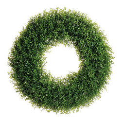 Silk Plants Direct - Silk Plants Direct Tea Leaf Wreath (Pack of 4) - Silk Plants Direct specializes in manufacturing, design and supply of the most life-like, premium quality artificial plants, trees, flowers, arrangements, topiaries and containers for home, office and commercial use. Our Tea Leaf Wreath includes the following: