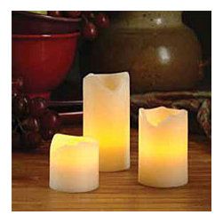 2 Inch Diameter Melted Edge Flicker Candle - Set candles throughout your home. You no longer have to worry about the risk of fire with battery-operated candles.