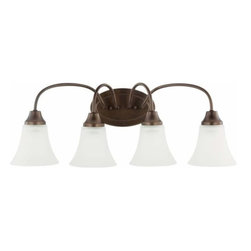 Sea Gull Lighting - 4-Light Wall / Bath Bell Metal Bronze - 44808-827 Sea Gull Lighting Holman 4-Light Wall / Bath with a Bell Metal Bronze Finish