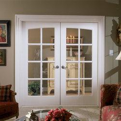Tudor door - TruStile FL830 common arch pair in MDF with Roman ogee (OG) sash