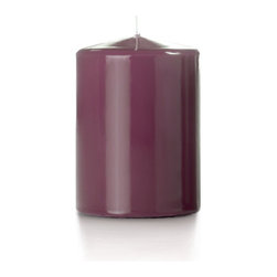 """Neo-Image Candlelight Ltd - Set of 12 - Yummi High Gloss Pillar Candles - 16 Colors, Magenta, 3""""x4"""" - Our unscented 3""""x4"""" High Gloss Pillar Candles are ideal when creating a beautiful candlelight arrangement for the home or wedding decor.  Available in 7 trendy High Gloss candle colors hand over dipped with white core to match and compliment your home decor or wedding centerpiece decoration."""