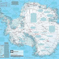 Magic Murals - Antarctica Map Wallpaper Wall Mural - Self-Adhesive - Multiple Sizes - Magic Mur - Antarctica Map Wall Mural