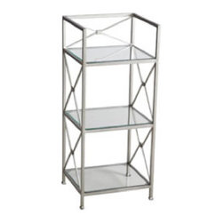 Levinson 3-Tier Shelf - This elegant shelf makes a great nightstand or spot in the bathroom for storing extra towels and toiletries.