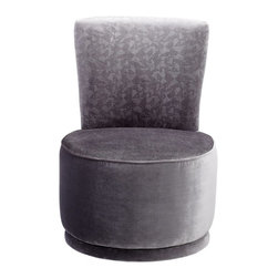 Cyan Design - Cyan Design Apostrophe Contemporary Chair - This Cyan Design apostrophe chair features a classic slipper shape. The rounded seat and curvilinear back are paired with a modern fabric that features a subtle geometric pattern. The silver tones of the fabric pair beautifully with the shape, giving it elegance and versatility.