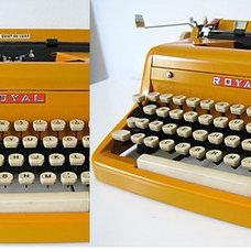1950's Royal Typewriter (Restored) - Custom Orange