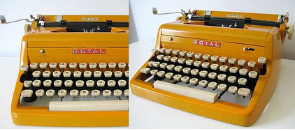 1950's Royal Typewriter (Restored) - Custom Orange