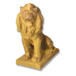 Orlandi Statuary - Sentry Lion Garden Statue Multicolor - FDS77LLIONFACINGLEFT - Shop for Statues and Sculptures from Hayneedle.com! This exceptionally crafted Sentry Lion Garden Statue will lend an air of power and grace to your outdoor setting. This lion is crafted of durable weather-resistant fiberglass resin designed for outdoor use. This lightweight material is finished with a hand-applied coating which is non-peeling. Beautifully detailed this statue has a thick rich mane and massive paws. A lifelike facial expression makes this a truly impressive piece.About Orlandi StatuaryBorn in 1911 when Egisto Orlandi traveled from Lucca Italy to Chicago Illinois Orlandi Statuary quickly set the standard for excellence in their industry. Egisto took great pride in his craft and reputation and which is why artists interior designers and museums relied upon the careful details and impeccable quality he demanded. Over the years they've evolved into a company supplying more than statuary. Orlandi's many collections today include fiber stone for the garden religious statuary fountains columns and pedestals. Their factory and showroom are still proudly located in Chicago where after 100 years they remain an industry icon.