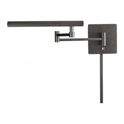 George Kovacs - 1-Light Swing Arm Wall Lamp, Bronze - 1 Light Swing Arm Wall Lamp