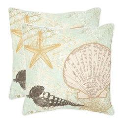 Safavieh - Eve Accent Pillow  - 18x18 - Green - Eve Accent Pillow  - 18x18 - Green