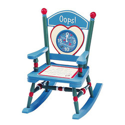 Levels of Discovery - Levels Of Discovery Junior Time Out Mini Rocker Chair - Make your job easier when reprimanding your child with this time-out chair with timer by Levels of Discovery. A special message of love written on the wooden seat reminds your child that your love is always present, even during wrong-doings.