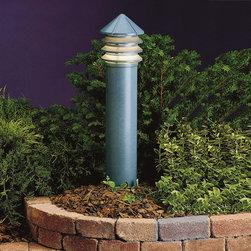 LANDSCAPE - LANDSCAPE 15205MST Six Groove Three Tier Path Light - Versatile, louvered fixture with multiple mounting options for deck or path lighting, on optional post, stem or bollard. Cast Aluminum. Molded ribbed diffuser of clear UV stabilized high impact resistant polycarbonate.