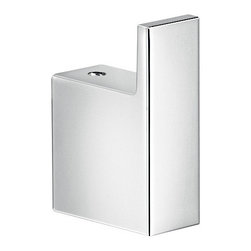"""Gedy - Square Polished Chrome Bathroom Towel Hook - This sleek contemporary bathroom hook is wall mounted and fits any of your storage needs. Square in shape, it is made of high quality cromall and has a polished chrome finish. Simple towel, clothes, or robe bathroom hook. Made in and imported from Italy by Gedy. Bathroom towel, clothes, or robe hook. Wall mounted square bathroom hook. Made out of Cromall and finished in chrome. Made in Italy. Bathroom Hook: Width: 0.8"""" height: 2.4"""" depth: 1.6""""."""