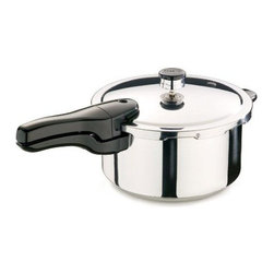 NATIONAL PRESTO - 4-Quart Stainless Steel Pressure Cooker/Canner - Features: