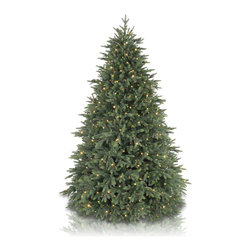 "Balsam Hill - 5.5' Balsam Hill® Centennial Fir Pre-Lit Artificial Christmas Tree - The Centennial Fir artificial Christmas tree is one of our famous Instant Evergreen� trees that sets up in minutes. With branches that fan out automatically during setup, this instant tree will save you valuable time and effort compared to setting up and fluffing a traditional artificial tree. We've done all the hard work so that you can sit back and savor the beauty of the season. This 5.5 foot pre-lit easy setup tree will sparkle and dazzle with its Clear warm glow lights. Also included with this tree is a scratch-proof tree stand w/ rubber feet, soft cotton gloves for shaping the tree, ground stakes for staking the tree into the lawn as pathway trees, storage bags, extra bulbs and fuses, and an on/off foot pedal. As the best artificial Christmas tree manufacturer that is the #1 choice for set designers for TV shows such as ""Ellen"" and ""The Today Show"", in addition to being a recipient of the Good Housekeeping Seal of Approval, our trees are backed by a 10-year foliage warranty (depends on the size of the tree) and a 3-year light warranty. Free shipping when you buy today!"