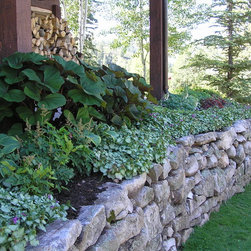 Custom drystack wall & shade garden -