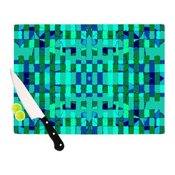"Kess InHouse - Nina May ""Verdiga"" Cutting Board (11.5"" x 15.75"") - These sturdy tempered glass cutting boards will make everything you chop look like a Dutch painting. Perfect the art of cooking with your KESS InHouse unique art cutting board. Go for patterns or painted, either way this non-skid, dishwasher safe cutting board is perfect for preparing any artistic dinner or serving. Cut, chop, serve or frame, all of these unique cutting boards are gorgeous."